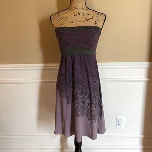 Athleta purple/gray strapless dress